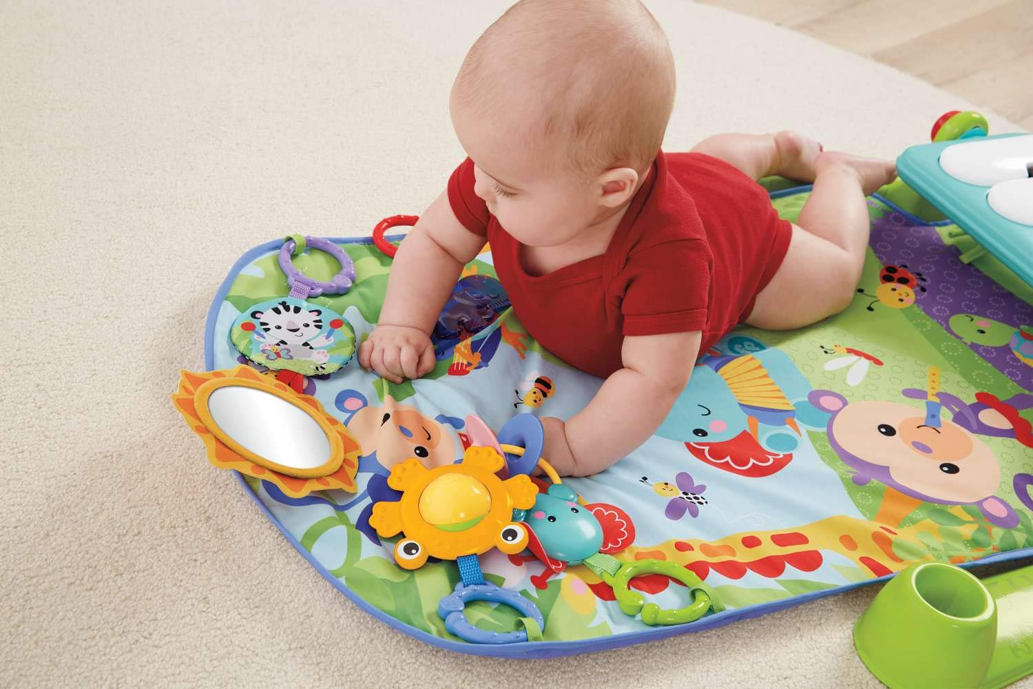 Pink Fisher-Price Kick and Play Piano Gym