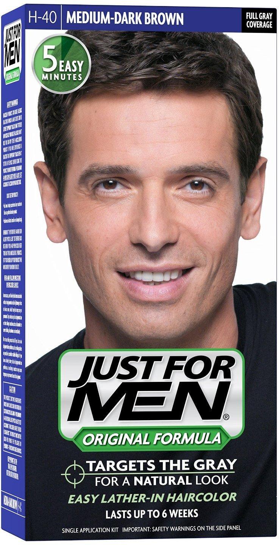 JUST FOR MEN Hair Color H-40 Medium Dark-Brown 1 ea (Pack of 4) by Just for Men