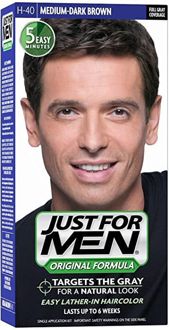 953269dde2c Amazon.com   JUST FOR MEN Hair Color H-40 Medium Dark-Brown 1 ea (Pack of 4)    Beauty
