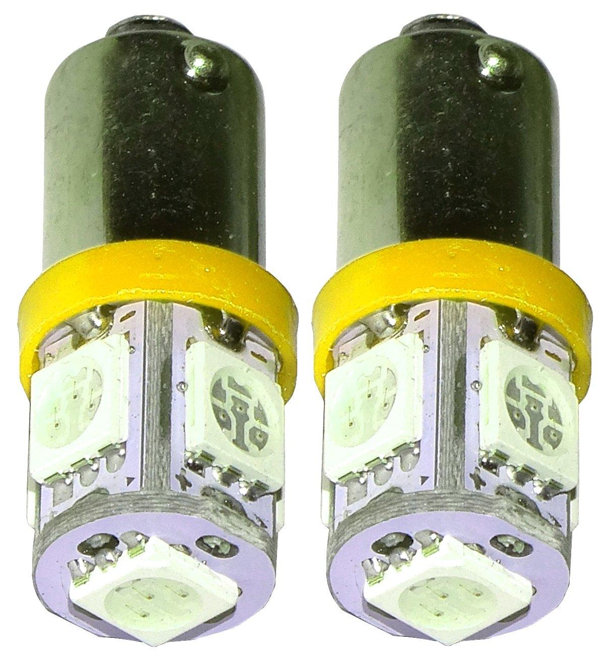del compartimiento del motor y del maletero AERZETIX: 2 x Bombillas amarillo T10 W5W 12V 2LED SMD para iluminacion interior luz del techo luces umbrales de puertas luz de matricula