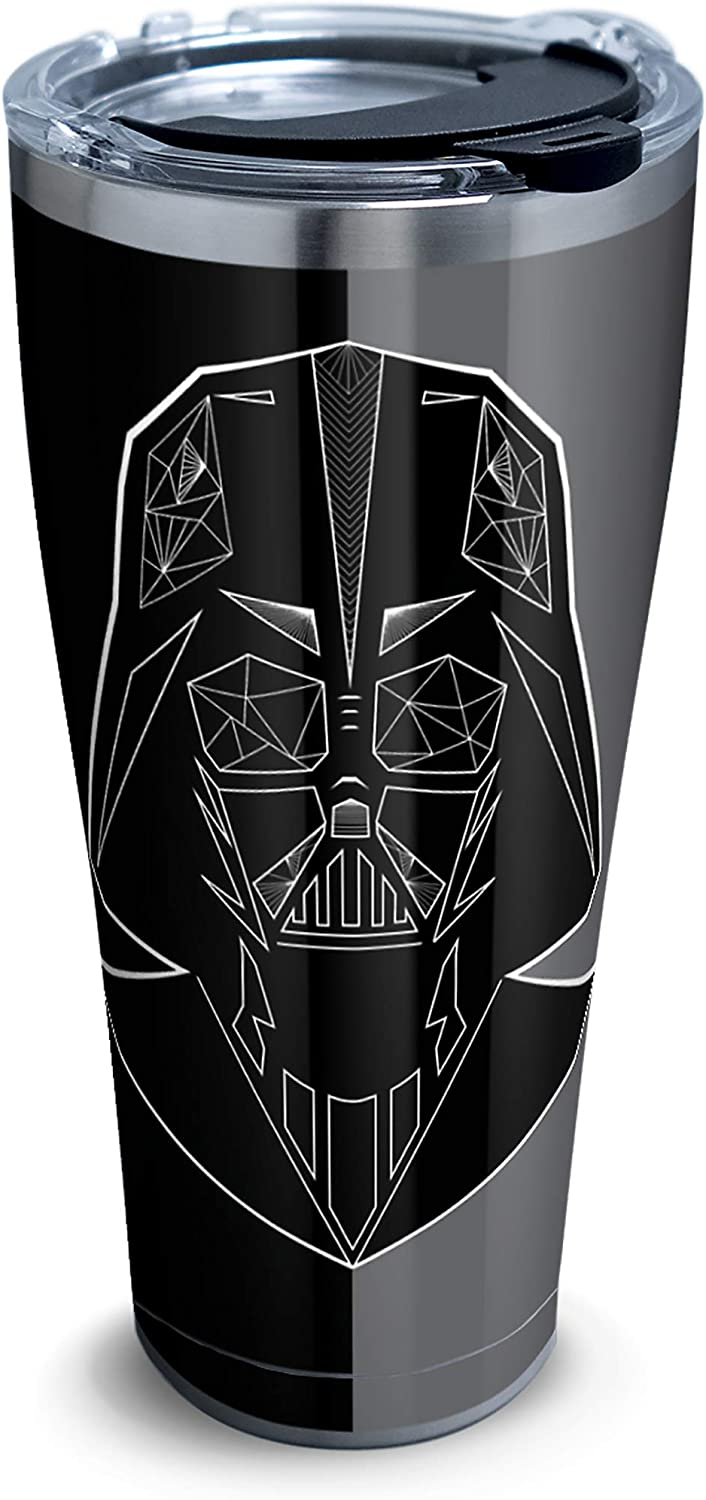 Tervis Star Wars Vader Trooper 18/8 Stainless Steel Insulated Travel Tumbler & Lid, 30 oz, Silver