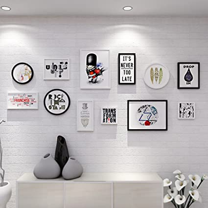 Frame Photo Muur Woonkamer Scandinavische Foto Muur Creatieve Muur Combinatie Eenvoudige Moderne Slaapkamer Muur Decoratie Muur Foto Muur Modieus Ontwerp Amazon Nl