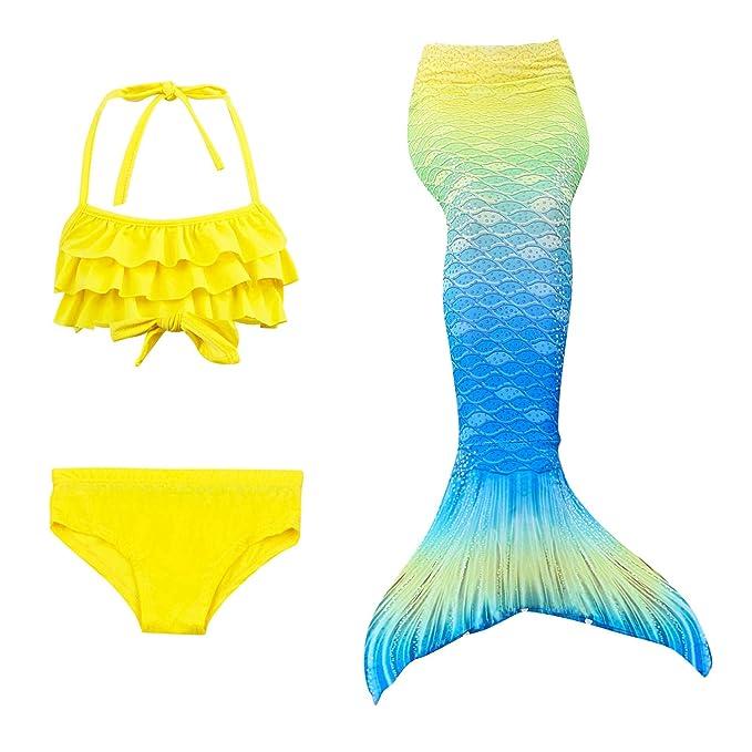 Lee Little Angel 2019 niña de Tres Piezas Sirena Bikini Traje de baño