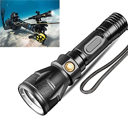 Waterproof Underwater Diving Torch LED Outdoor Flashlight Glare Lighting