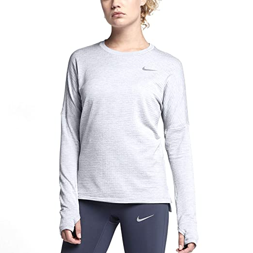 10804c0f Amazon.com: Nike Therma-Sphere Element Women's Long-Sleeve Running Top  (Black/Reflective Silver, X-Small): Sports & Outdoors