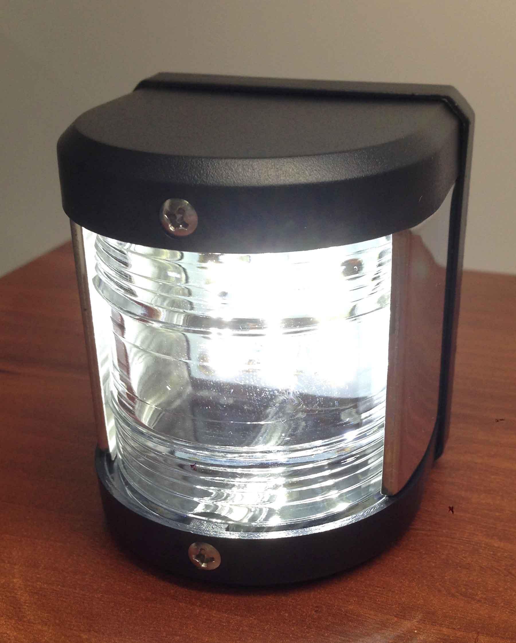 MARINE BOAT WHITE STERN LED NAVIGATION LIGHT WATERPROOF 2 NAUTICAL MILES