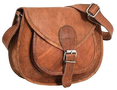 "ad84a9cb53 Gusti Cuir nature ""Juliette"" besace en cuir sac en cuir véritable  et naturel"
