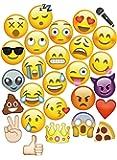 MOT Global 27 pcs Emoji Photo Booth Props Kit Festa Forniture DIY Accessori per Compleanno Matrimonio Natalizio del Partito