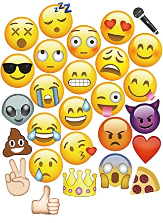 Moreteam 27PC Emoji Photo Booth Props Party Decorations Masks For Dress Up