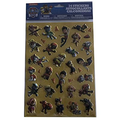 1 Sheet of 34 Paw Patrol Puffy Stickers: Arts, Crafts & Sewing