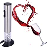 Electric Wine Opener, Stainless Steel Rechargeable Wine Opener With Foil Cutter and Portable Charger