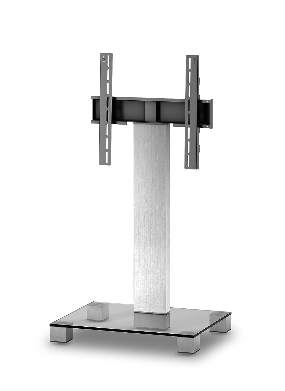 Sonorous Pl 2511 Verre Inox Aluminium Meuble Tv Avec Support Pour  # Meuble Tv Avec Support Tv