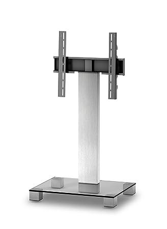 Elbe PL- 2511-C-INX - Mueble soporte para TV vertical, 65 x 89 x 50 cm, color cristal y plata: Amazon.es: Electrónica