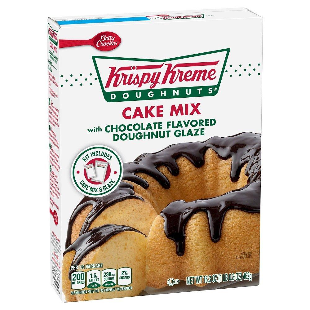 Krispy Kreme Doughnuts Cake Mix With Chocolate Flavored Doughnut Glaze, 16.3 oz
