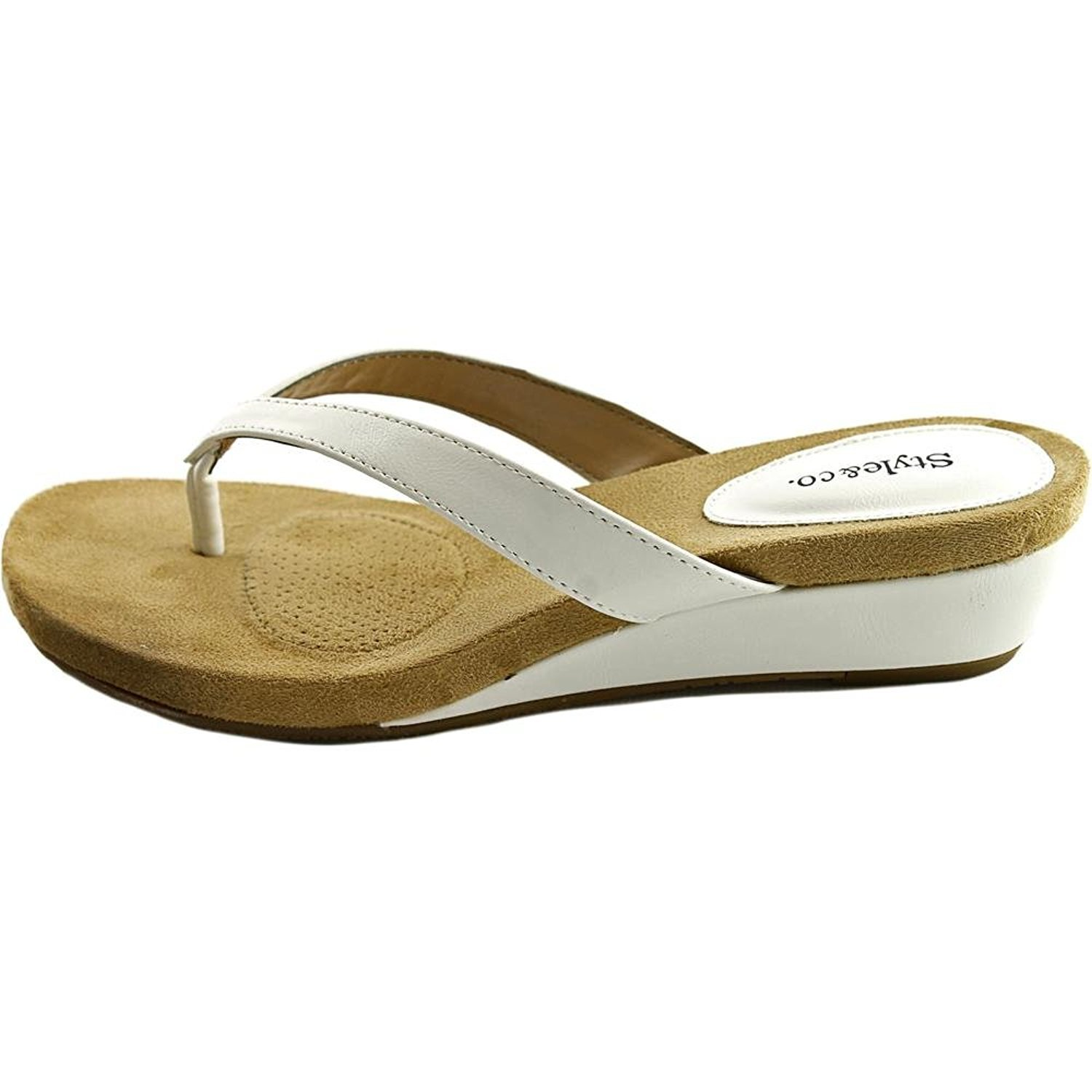 Style & Co. Womens Haloe2 Open Toe Casual Slide Sandals, White, Size 7.0