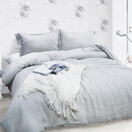 merryfeel 100 linen duvet cover set king grey