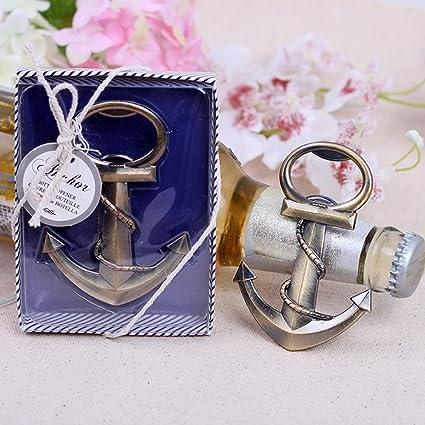 1 Anchor Nautical Themed Bottle Opener wedding favors Bridal Shower Favor