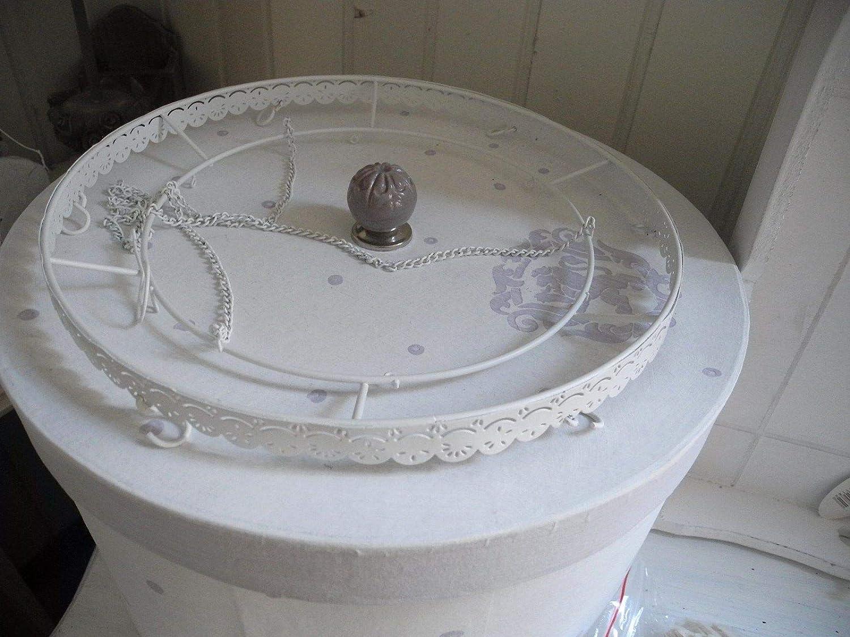 Item Metallkranz 28cm Kranz Deckenkranz Spitzenrand Krauterkrone