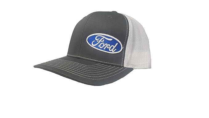 6c539ed479ff7 Image Unavailable. Image not available for. Color  Richardson 3D Puff Ford  Logo Emblem Hat Cap Adult Adjustable Snapback Unisex Dark Grey