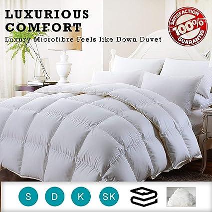 Luxury Hollowfibre//Microfibre Silky Soft Duvet 4.5 10.5 13.5 TOG Brand New