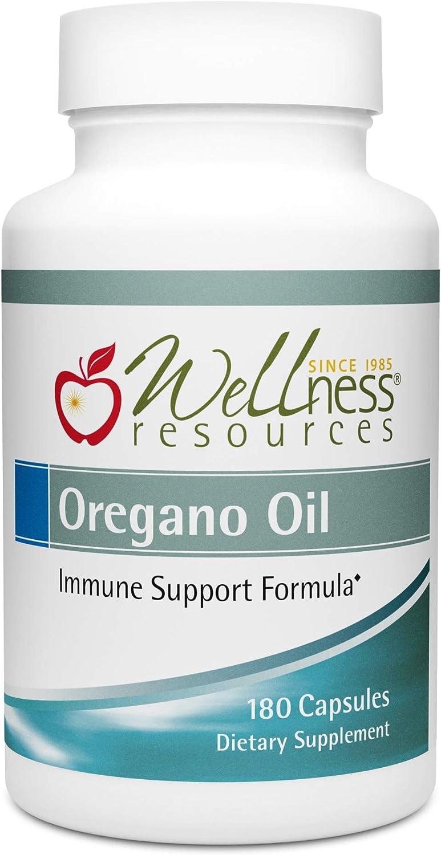 Oregano Oil Capsules – High Potency Wild Oregano Oil 65 Carvacrol, 100mg per Capsule 180 Capsules
