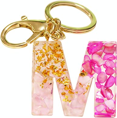Customized Cute Initial Keychain A-Z Letter Bling Car Key Chain Bag Charm  Personalized Gifts for Women at Amazon Women's Clothing store