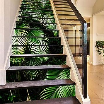 Escalier Auto Adhesif Papier Peint E Feuilles De Palmier