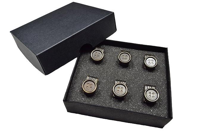 264bfd849c6d Olata Clips de Botones para Tirantes de Cuero. 6 en Caja de Presentación