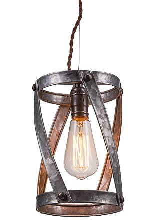 LightLady Studio   Farmhouse Lights   Industrial Pendant Lighting   Rustic Light  Fixtures   Galvanized Pendant