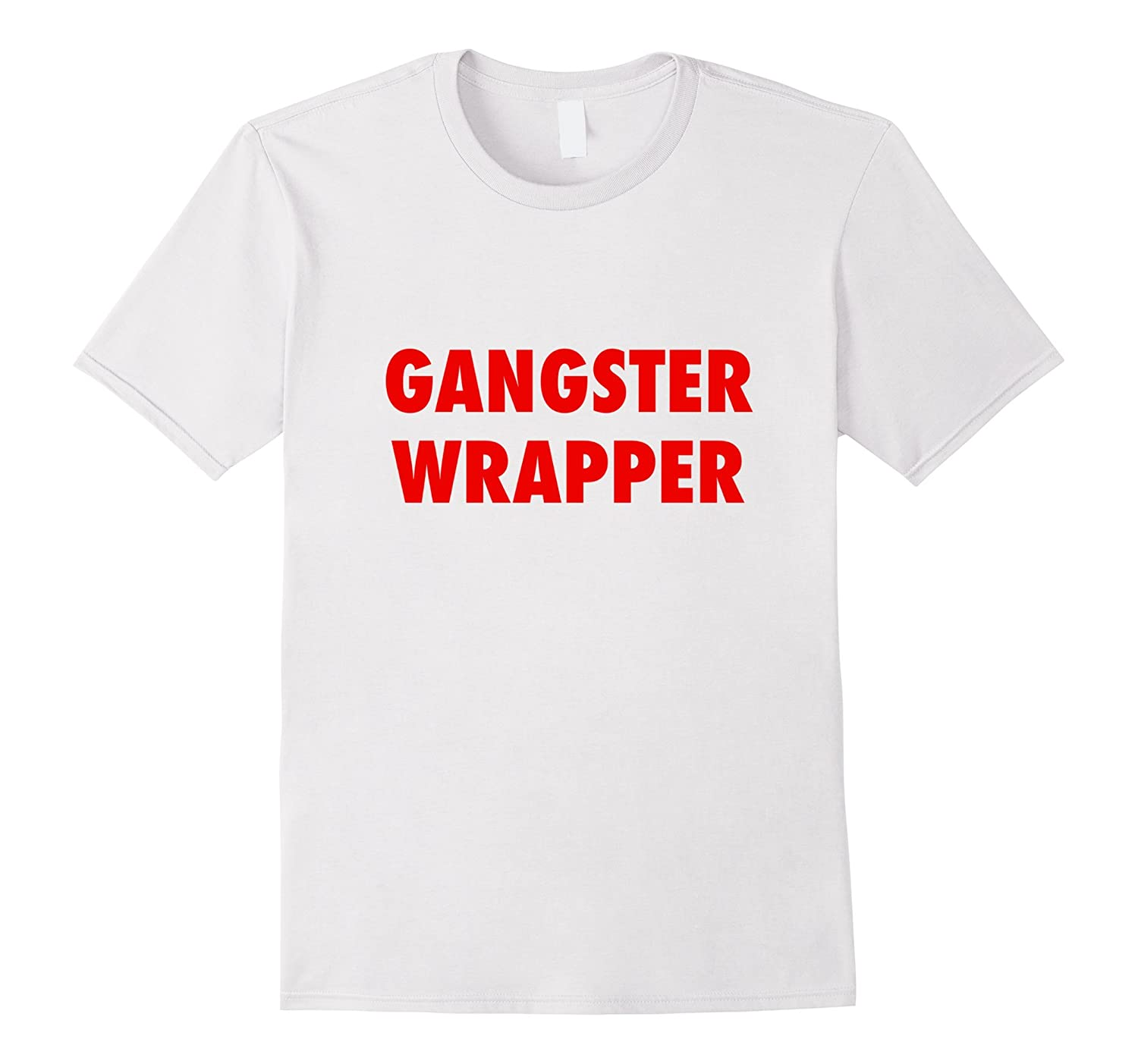 Gangster Wrapper Funny Holiday Christmas Gift Rapper T-Shirt-Art