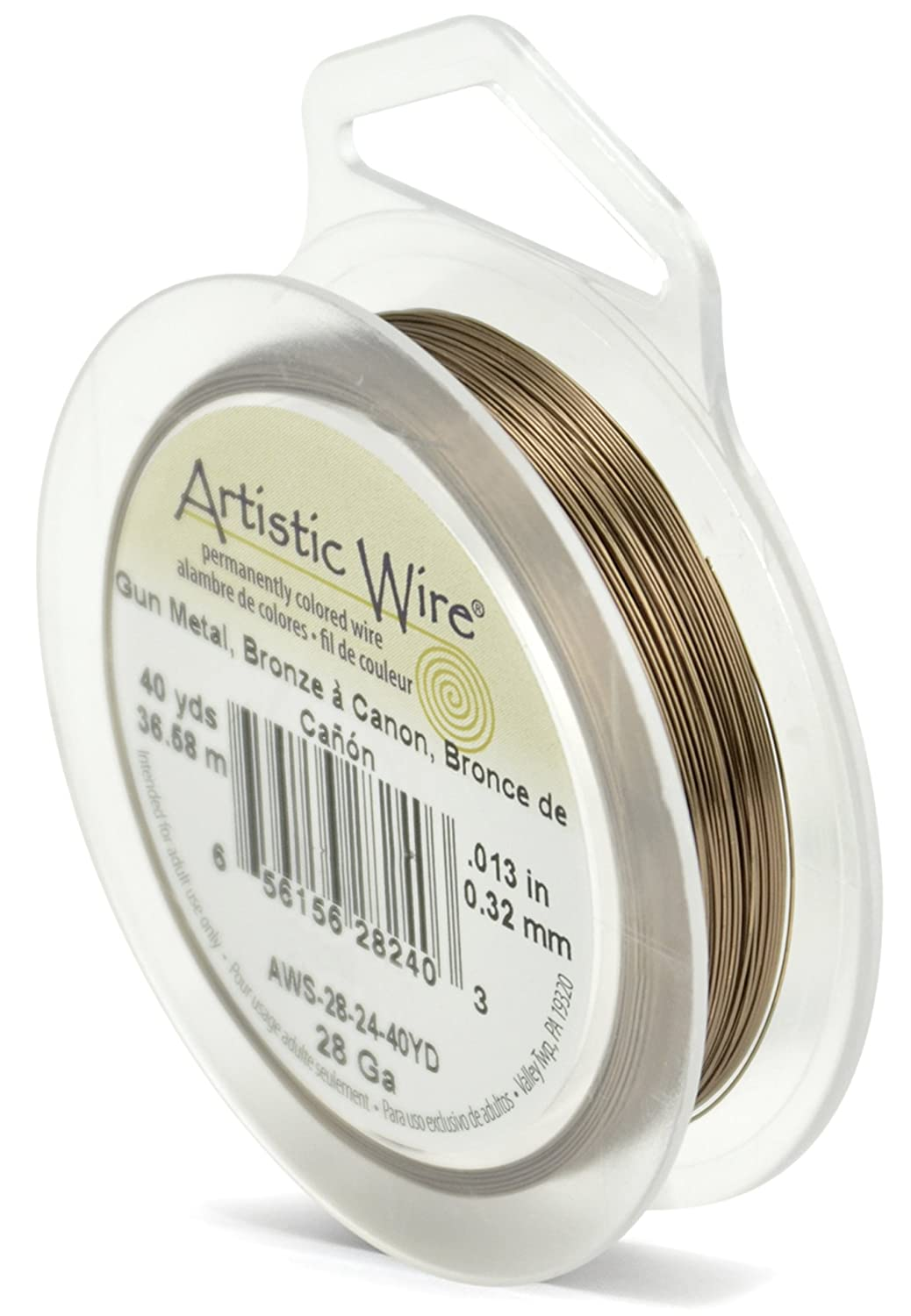 Artistic Wire 28-Gauge Antique Brass, 40-Yards Beadalon AWS-28-24-40YD