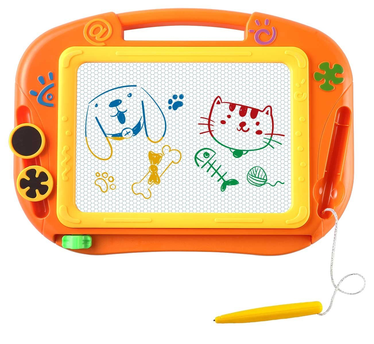 EEDAN Magnetic Drawing Board Games Toy Magna Doodle for Kids - Erasable Colorful Drawing Board Writing Sketching Pad for Kids Inspiration and Colors - Gift for Girls Boy Kids Children Travel Size JIA-07-HAOWANDE