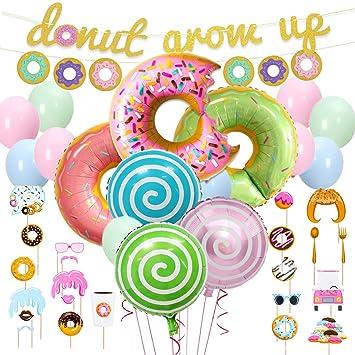 Fangleland Kit de Decoraciones para Fiestas de Donuts Donut ...