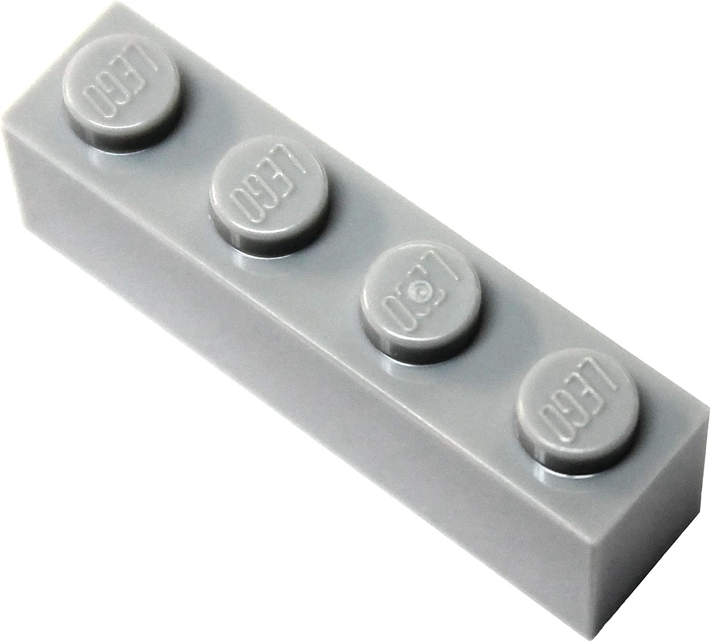 LEGO Parts and Pieces: Light Gray (Medium Stone Grey) 1x4 Brick x100