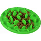wangstar Slow Feed Interactive Pet dog silicone bowl,Non Slip Dog Pet Bowl,Slow Dog Feeder (Green)