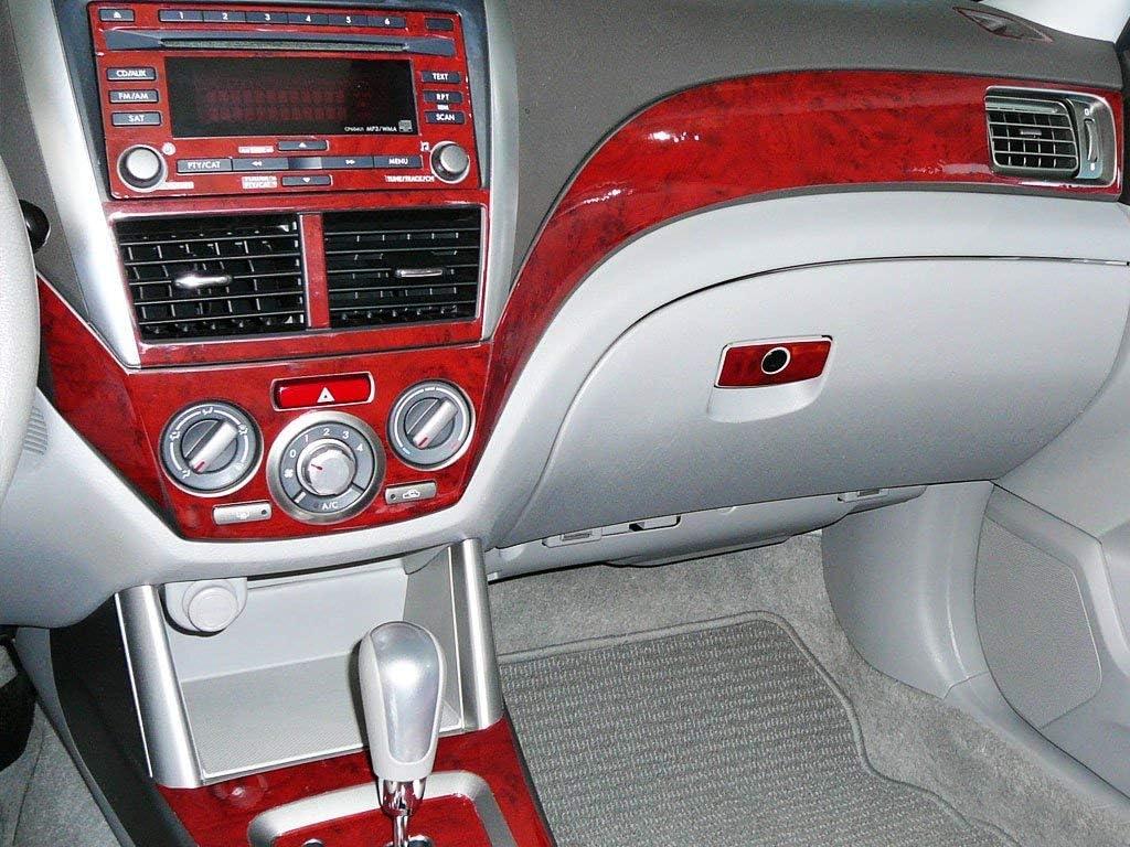 Sedan Brushed Black Rvinyl Rdash Dash Kit Decal Trim for Kia Forte 2010-2013 - Aluminum