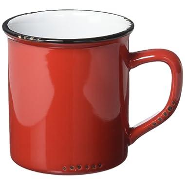 Abbott Collection Enamel Look Stoneware Mug, Red