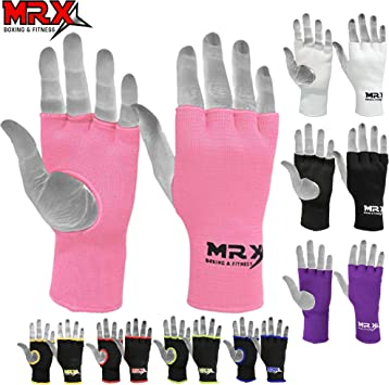 Wyox Inner Hand Wraps Fist Padded Bandages MMA Gel Strap Mitts Kick Red//Black