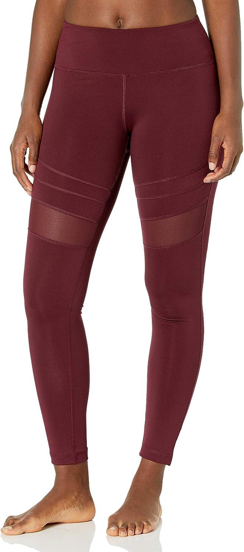 JEANS Performance Women High Waist Yoga Pants Pockets Mesh Legs V.I.P
