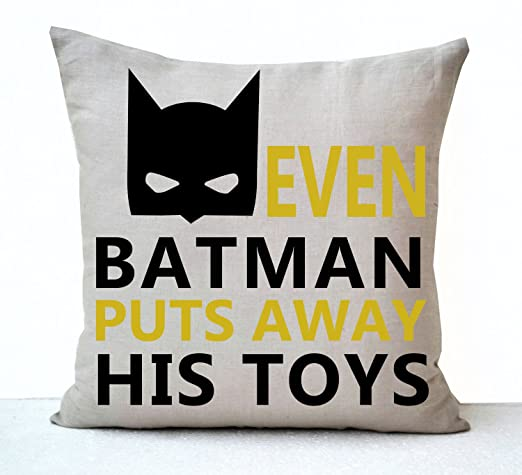 Incluso Batman pone a sus juguetes de Cojín para niños ...