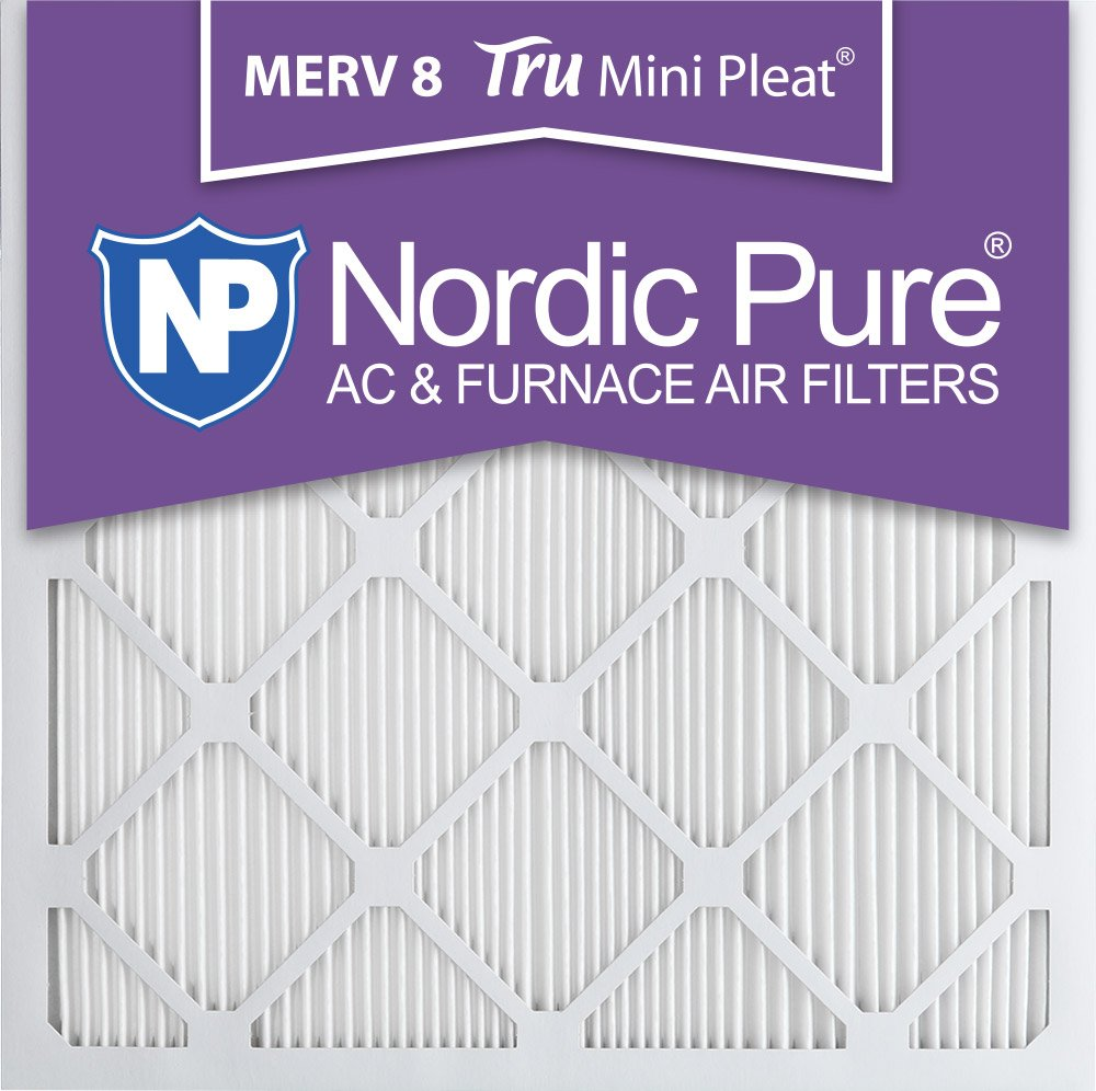 Nordic Pure 14 x 14 x 1 m8minipleat-12 Mini Pleat Merv 8 AC炉エアフィルタ、14インチx 14インチx 1インチ、12パック B00MYGIMJ4