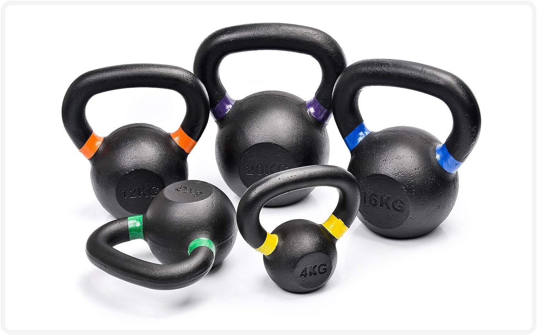 meteor Kettlebell Iron Black Easy Grip Handles Ergonomic Gym Equipment Fitness Gymnastics Exercise Workout Cardio Men and Women