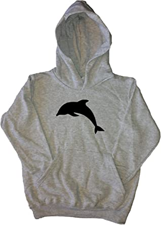 2d07e8f1 Amazon.com: Dolphin Grey Kids Hoodie: Clothing