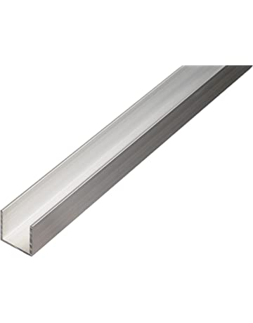 Perfil en U de aluminio para tableros de partículas de 16 y 19 mm