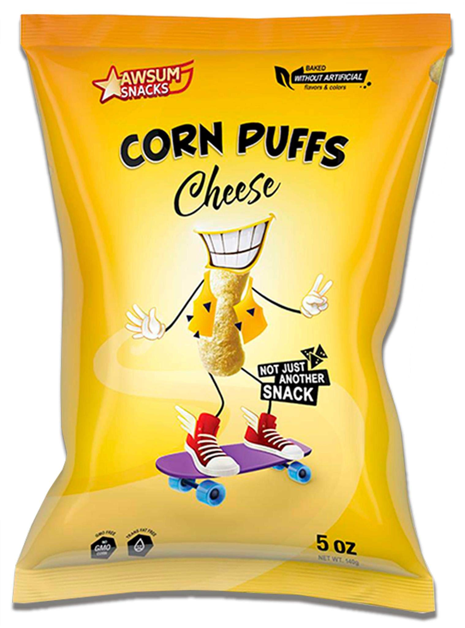 Cheese Corn Puffs, 5 oz bag (Pack of 9 bags)