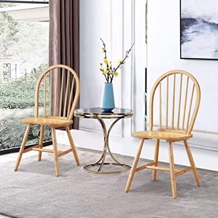 Vintage Wooden Chairs >> Amazon Com Waterjoy Wood Chairs Set Of 2 Vintage Winds Side