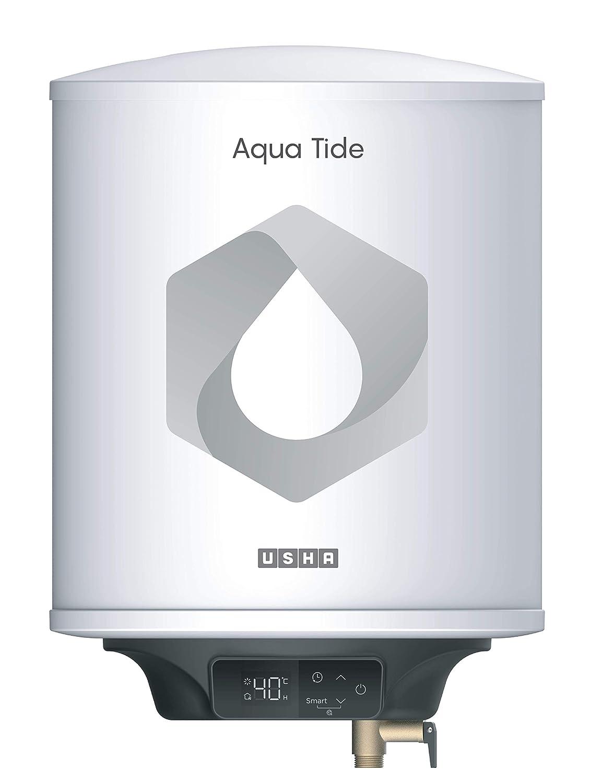 Usha Aqua Tide 25 Litre 5 Star Digital Storage Water Heater (White)