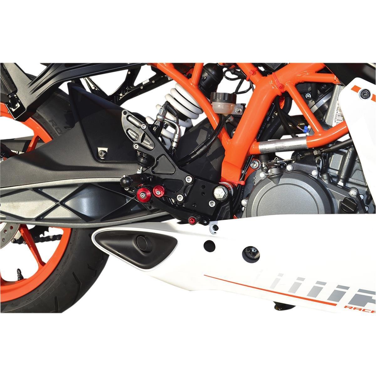 Hotbodies Racing 91401-2500 Black MGP Rear Set (KTM RC 390 (non-cup)/ DUKE 390 (14-16')