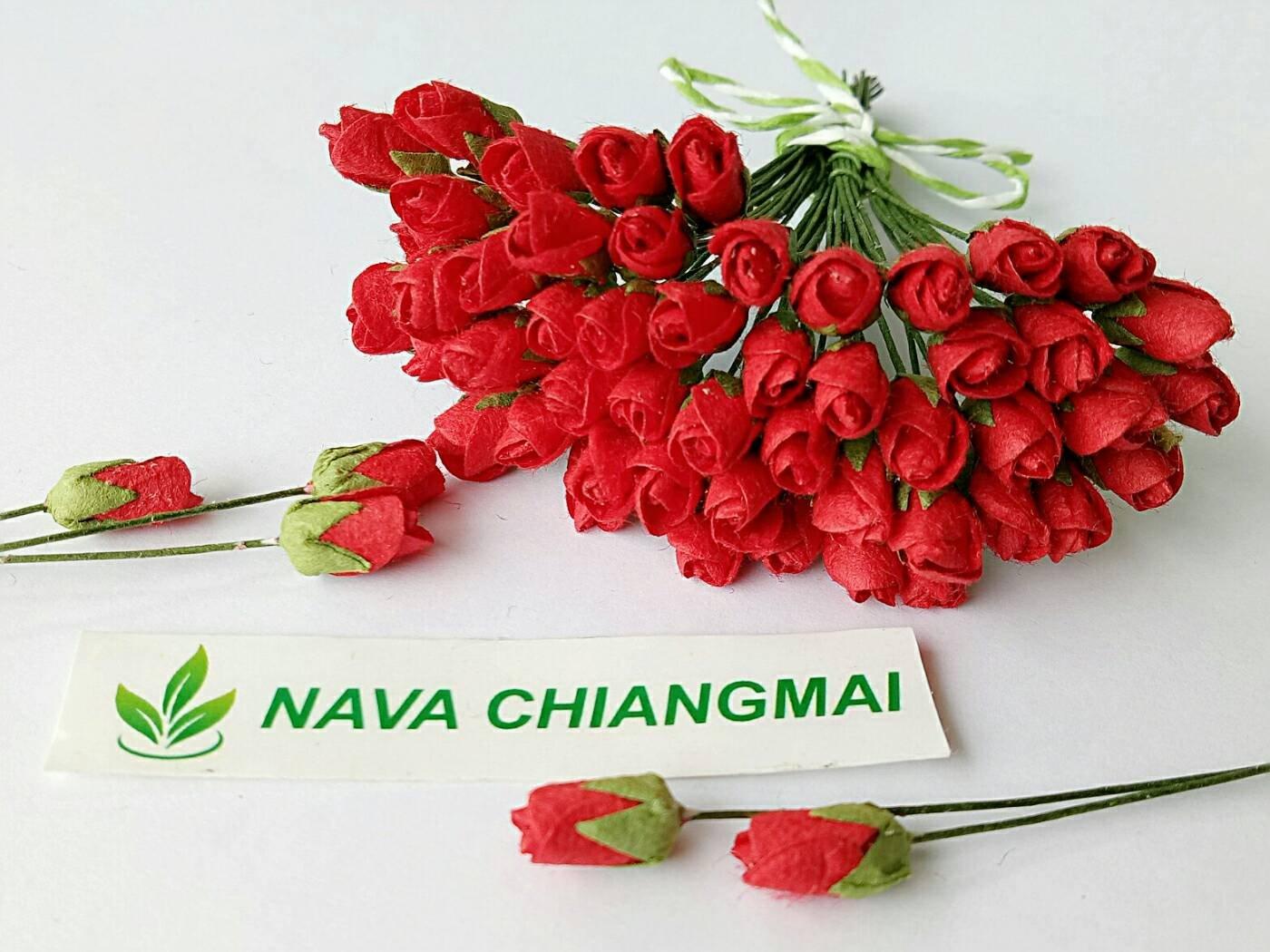 Amazon Nava Chiangmai Mini Red Rose Bud Mulberry Flower Paper