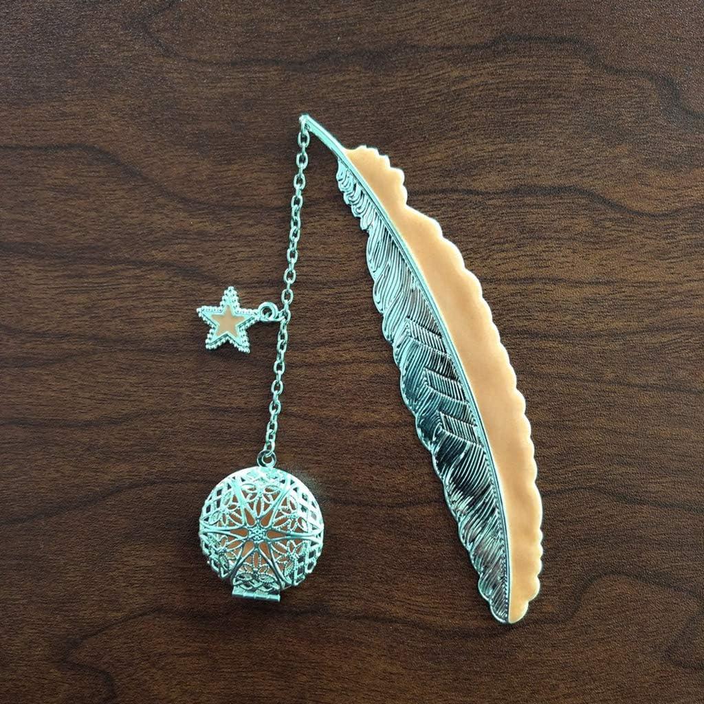 Marque-page lumineux r/étro en m/étal avec plumes et ailes dange 02